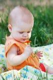 piękny kwiatu dziewczyny mały pomarańczowy target3232_0_ Fotografia Royalty Free