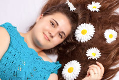piękny kwiatu dziewczyny włosy seksowny Zdjęcie Stock