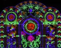 Piękny kwiatu wzór zaświeca dekorację Obrazy Stock