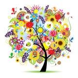 piękny kwiecisty drzewo ilustracja wektor