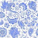 piękny kwiecisty ilustracyjny bezszwowy wektor Zdjęcie Royalty Free