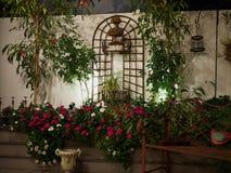 Piękny kwitnący dachu ogród w miasta położeniu Obrazy Royalty Free