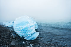 Piękny lód na wybrzeżu Atlantycki ocean Zdjęcia Stock