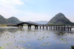 Piękny lakeview w puzhehei okręgu administracyjnym, Yunnan, porcelana Fotografia Stock