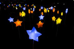 Piękny lampion w dekoraci dla jesień festiwalu zdjęcia royalty free