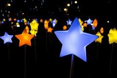 Piękny latern w dekoraci dla jesień festiwalu zdjęcia royalty free