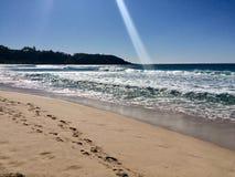 Piękny lato dzień przy plażą Obrazy Royalty Free