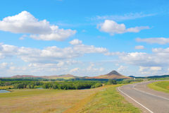 Piękny lato krajobraz Obrazy Royalty Free