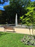 Piękny lato ranek w mieście Obrazy Royalty Free