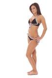 piękny latynosa modela swimsuit biel zdjęcia stock