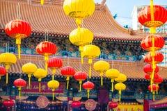 Piękny lentern zrozumienie na Wong Tai grzechu świątyni dla dekoruje miejsce Zdjęcia Stock