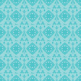 Piękny Lightseagreen I Błękitny Abstrakcjonistyczny tło ilustracji