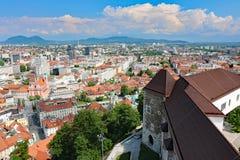 Piękny Ljubljana pejzaż miejski obrazy royalty free