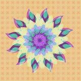 PIĘKNY LOTOSOWEGO kwiatu mandala Textured wizerunek PASTELOWYCH kolor?w bar??g ilustracji