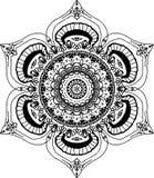 Piękny lotosu okwitnięcia mandala ilustracja wektor