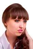 Piękny młoda kobieta portret Fotografia Stock
