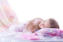 Piękny młodej dziewczyny dosypianie na poduszce Fotografia Stock