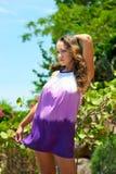 Piękny młodej kobiety outdoors portret Obrazy Stock