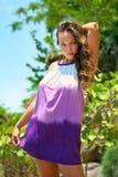 Piękny młodej kobiety outdoors portret Zdjęcie Royalty Free