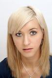 Piękny Młody blondynki Headshot Zdjęcia Royalty Free
