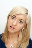 Piękny Młody blondynki Headshot Zdjęcie Royalty Free