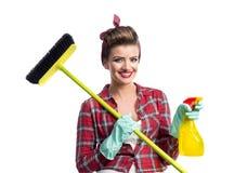 Piękny młody cleaner Fotografia Royalty Free