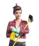 Piękny młody cleaner Zdjęcie Royalty Free