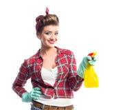 Piękny młody cleaner Zdjęcie Stock