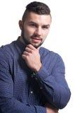 Piękny młody człowiek w formalnym odziewa Obrazy Stock