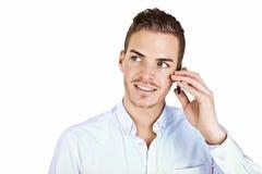 Piękny młody człowiek z przydatnym zdjęcia royalty free