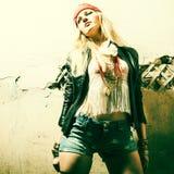 Piękny młody seksowny kobieta hipis Portret świeży piękny mody mod Obraz Stock
