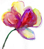 Akwarela kwiat Fotografia Royalty Free