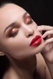 Piękny makijaż. Fotografia Stock