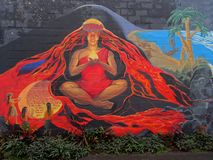 Piękny malowidło ścienne bogini Pela fotografia royalty free