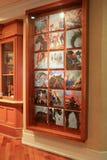 Piękny malowidło ścienne z kilka wizerunkami końska kultura w Saratoga terenie, Holiday Inn, Broadway, Nowy Jork, 2016 Zdjęcie Stock