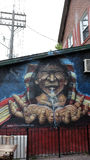 Piękny malowidło ścienne z tubylczymi ludźmi Zdjęcie Royalty Free