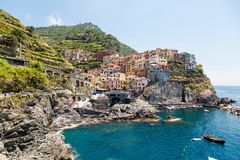 Piękny Manarola miejsce Tuscany obraz royalty free