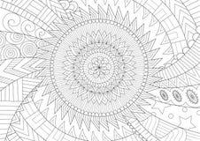 Piękny mandala dla książki, kolorystyki strony lub kolorytu obrazka tła i kolorystyki, również zwrócić corel ilustracji wektora ilustracja wektor