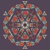Piękny mandala Round ornamentacyjny wzór zdjęcie stock