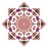 Piękny mandala Round ornamentacyjny wzór obrazy stock