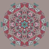 Piękny mandala Round ornamentacyjny wzór obraz stock