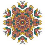 Piękny mandala Round ornamentacyjny wzór zdjęcia stock