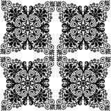 Piękny mandala wzór w czarny i biały powtórce Zdjęcie Stock