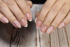 piękny manicure gwoździe zdjęcia stock