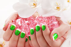 Piękny manicure'u gwoździa salon Obraz Stock