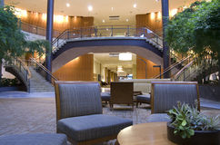 Piękny meble przy hotelowy lobbby Zdjęcia Stock