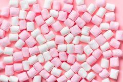 Piękny menchii i bielu słodki marshmallow lubi tło, fest Obraz Royalty Free