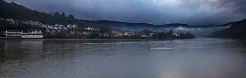Piękny miasteczko na Rhein obrazy royalty free