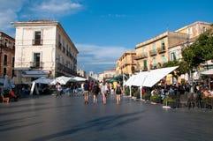 Piękny miasteczko pizzo calabro w Calabria na Tyrrheni obraz stock
