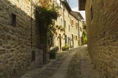 Piękny miasteczko w Tuscany, Włochy zdjęcie stock